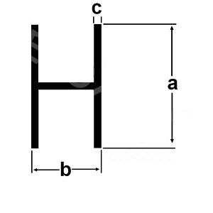 Hliníkový h profil